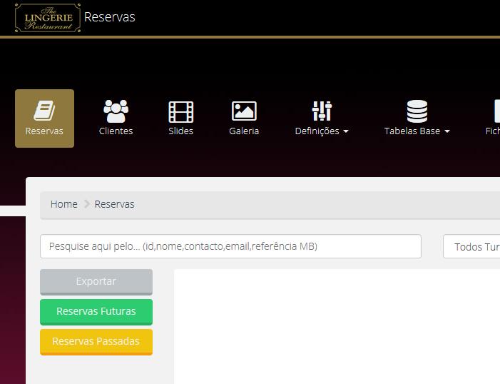 Plataforma de gestão de reservas e clientes